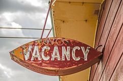 Neon No Vacancy Sign. Old, weathered, neon no vacancy sign for a former motel on Route 66 royalty free stock photos