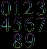 Neon Number Royalty Free Stock Photo