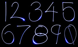 Neon Number Set Royalty Free Stock Photo