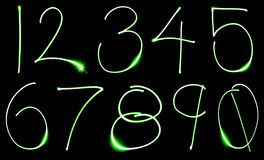 Neon Number Set Stock Photo