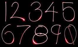 Neon Number Set Stock Images