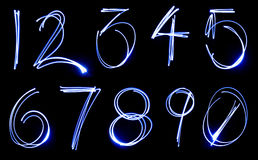 Neon Number Set Royalty Free Stock Image
