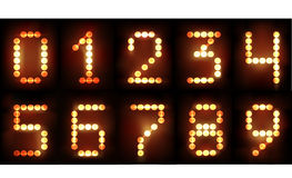 Neon numbers Stock Photography