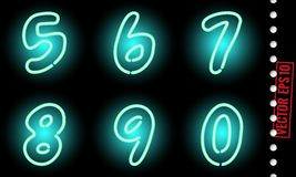 Neon numbers Royalty Free Stock Photography