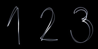 Neon numbers Stock Images
