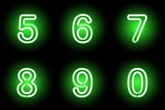 Neon numbers. Vector. Royalty Free Stock Images