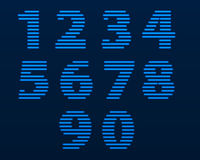Neon numbers. Vector Illustration. Neon numbers. Color depends on the color of the background Stock Image