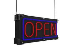 Neon-offenes Zeichen Lizenzfreie Stockfotos