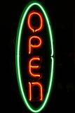 Neon Open Sign Stock Images