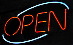 Neon Open sign Stock Photos