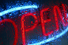 Neon open sign Stock Image
