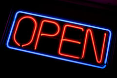 Neon OPEN Sign Royalty Free Stock Photo