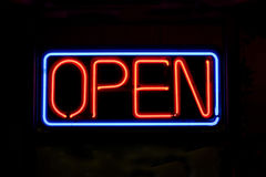 Free Neon OPEN Sign Stock Images - 6670654