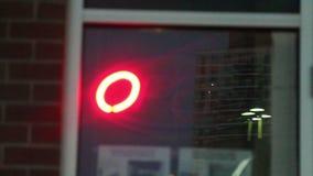 Neon OPEN Sign stock video