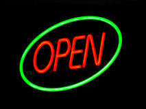 Neon Open Sign Royalty Free Stock Photography