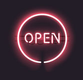 Neon Open Teken vector illustratie