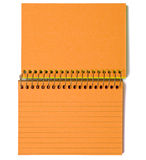 Neon Orange Spiral-Bound Note Cards Royalty Free Stock Photography