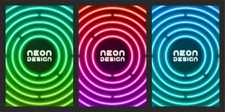 Neon original design for cover, flyer, web, page, poster vector illustration