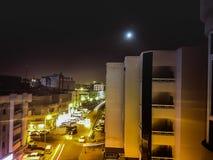 Neon på nätterna Arkivbilder