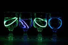 Neon Party Drinks Stock Photography