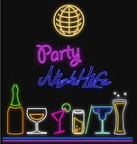 Neon Party Nightlife Stock Images