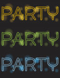 Neon party Stock Photos