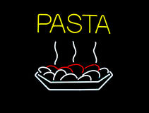 Neon Pasta Sign Stock Photos
