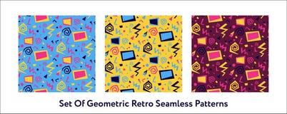80-neon-patroon exemplaar Royalty-vrije Illustratie