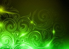 Neon Pattern Background. Royalty Free Stock Photography