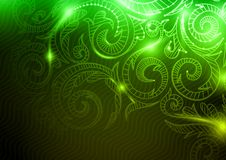 Neon Pattern Background. Stock Photography