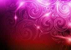 Neon Pattern Background. Stock Images