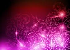 Neon Pattern Background Stock Image