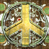 Neon Peace Sign Royalty Free Stock Photography