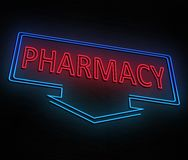 Neon pharmacy concept. Royalty Free Stock Photography