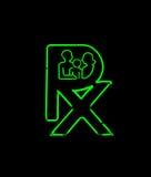 Neon Pharmacy Sign Stock Photography