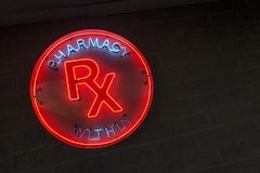 Neon pharmacy sign_2 Stock Image