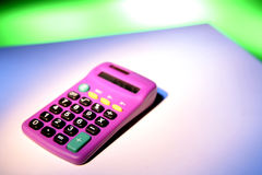 Neon Pink Calculator Stock Photo