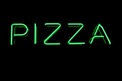 Neon Pizza Sign Royalty Free Stock Photos