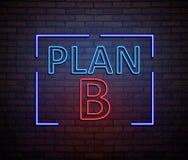 Neon Plan B concept. Stock Image