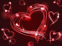 Neon or plasma hearts Royalty Free Stock Photo