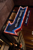 Neon Post office sign Stock Photos