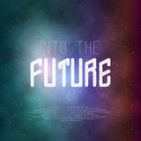 Neon Poster Retro Disco Background. Into The Future Vector Poster Royalty Free Stock Images