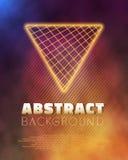 Neon Poster Template Retro Disco 80s Background.  Royalty Free Stock Photo