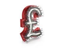 Neon pound symbol Stock Images