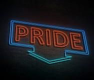 Neon pride concept. Stock Photo