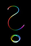 Neon question mark Stock Images