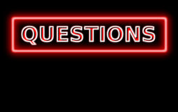 neon questions sign Royalty Free Stock Photography