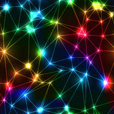 Neon rainbow low polygon seamless pattern Stock Photo