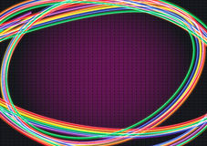 Neon rays Hintergrund Lizenzfreie Abbildung