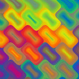 Neon Rectangles. A abstract interlocking grid of neon colored rectangles done on the diagonal Stock Photo